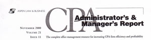 Aspen Law and Business CPA Administrator's & Manager's Report